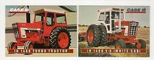 1995 CASE IH 1466 tractor, 1468 V-8 white, 2 collector/trading cards, #C13  #C14