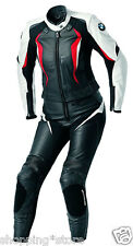 BMW WOMEN MOTORCYCLE LEATHER SUIT LADIES MOTORBIKE RACING SUIT BIKER JACKET PANT