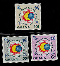 GHANA  SCOTT# 186-188 MNH   QUIET SUN YEAR