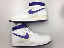 1998 DS Nike Air Force 1 High Mesh Strap White Purple Lea  SC OG AF1 Vtg Shoe