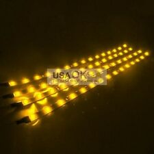 4PCS DC 12V Led Motorcycle Car Under Glow Frame Engine Motor Light Strips-Yellow