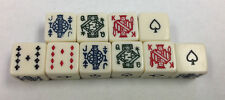 10 Six Sided Poker Dice Brand New W/O Dice Cup 10 Fun Times with 10 Poker Dice *