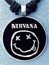 Nirvana Smiley pewter pendant 40mm diameter BP024