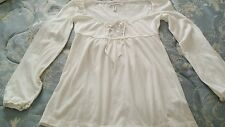 Aeropostale Peasant Blouse XSml/TP Ivory New with Tag