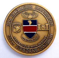 101st Airborne 326th Engineer Battalion Air Assault Sappers Challenge Coin