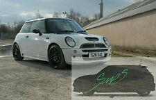 Mini Cooper S JCW, Beltline Tape Black R50/52/53 De-chrome GLOSS
