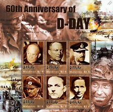 WWII Commanders (Eisenhower) 60th Anniversary of D-Day Stamp Sheet/2004 Maldives
