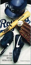 1989 Kansas City Royals Baseball MLB Media GUIDE