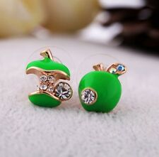 New Women's earrings Beautiful eardrop Mini green apple Diamond earring Dangler