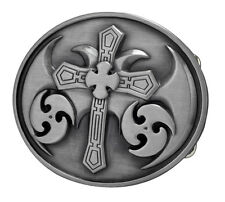 Celtic Cross Maltese SILVER Belt Buckle Metal Cool Gothic Medieval Unique New