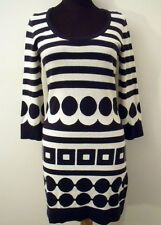 NEW $198 BODEN CASHMERE ANGORA BLEND NAVY & WHITE SWEATER DRESS WK643 - US 18
