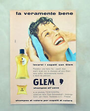 C875 - Advertising Pubblicità - 1959 - GLEM SHAMPOO ALL'UOVO TESTANERA