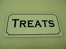 TREATS Vintage Style Metal Tin Sign 4 Collector General Store Toy Shop