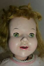 """Vintage Wind Up Mechanical Doll 24"""" TALL FOR REPAIR OR PARTS ONLY"""