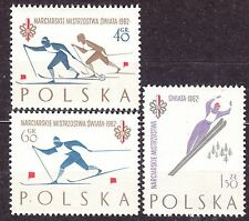 POLAND 1962 **MNH SC#1046a/48a World Ski Champion. FIS