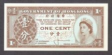 1961 1 ONE CENT QUEEN ELIZABETH II HONG KONG CURRENCY UNC BANKNOTE NOTE BILL GEM
