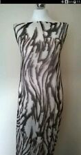 "Zebra Animal MESH Net 4 Way Stretch Fabric Material 60"" Width Brown/Beige"