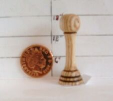 Dolls house miniature.Hat/Wig stand.Hand turned in ASH. (HS 5 A)