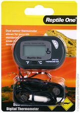 Reptile One R1-46593 Thermometer Dual Zone Sensor LCD - Terrariums & Viwariums