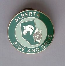 Alberta Ride and Drive Lapel Hat Souvenir Pin