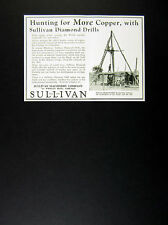 1929 Copper Prospecting in Africa photo Sullivan Diamond Drills vintage print Ad
