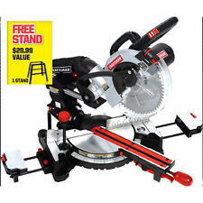 Craftsman 10'' Single Bevel Sliding Compound Laser Guided Miter Saw with STAND