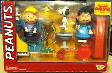Peanuts Good Ole Charlie Brown Lucy & Schroeder Memory Lane Figures Deluxe RARE!