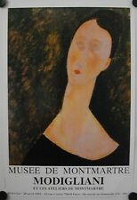 Affiche MODIGLIANI 1992 Exposition Musée de Montmartre