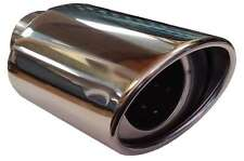 Honda Airwave 115X190MM OVAL EXHAUST TIP TAIL PIPE PIECE CHROME SCREW CLIP ON