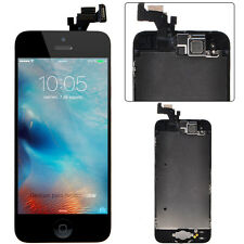 LCD Digitizer Assembly+Home Button+Frame+Ear Speaker For iPhone 5 Black