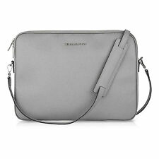 "Michael Kors Leather Sleeve/Pouch Case for 13"" Apple Macbook Pro - Pearl Grey"