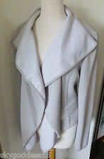 ST. JOHN KNITS 2012 DECONSTRUCTED WRAP JACKET PLATINUM MELANGE NWT! $1195 14 WOW