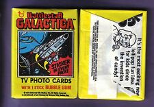 1978 Topps BATTLESTAR GALACTICA TV Photo Cards Wax Pack Vintage Sci-Fi !
