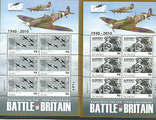 Alderney-Battle of Britain Scenes World War II set of 6 sheets mnh-Spitfires-