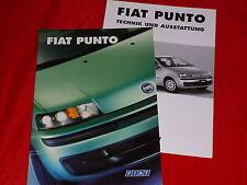 FIAT Punto SX ELX HLX Sporting HGT Prospekt von 1999