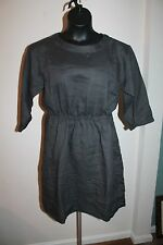 Gap Women's Soft Black Tie Waist Ramie Dress Size 10