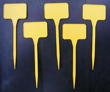 100 x Steckschilder gelb 15cm Etiketten Pflanzschilder Pflanzenschilder