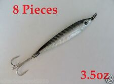 8 Pieces 3.5oz Mega Live bait Metal Jigs Saltwater Fishing Lures Anchovy