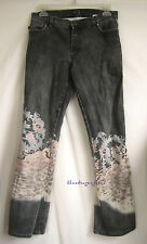 ROBERTO CAVALLI JEANS Gray Leopard Dragon Flower Jeans Pants ~ 28