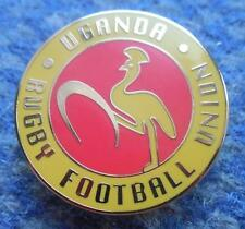 UGANDA RUGBY FOOTBALL UNION FEDERATION RARE ENAMEL PIN BADGE