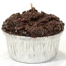 Double Chocolate Fudge Muffin Food Scented Candle/Molded & Sculpted/Paraffin Wax