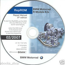 DVD MANUALE OFFICINA REPROM K2X WORKSHOP BMW R1200GS-R-RT-S-ST, HP2,R900RT 5^07