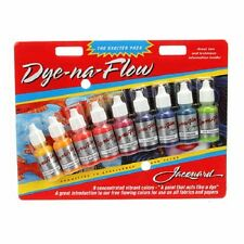 DYE NA FLOW PAINT SAMPLER 9 PACK, Fabric Paints From Jacquard Products NEW
