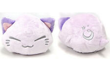 FuRyu Nemuneko Cute Fluffy Moon Star Neko Cat Big Cushion Plush AMU7508 ~ Purple