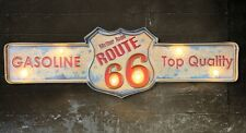 ROUTE 66  LED Metal Sign Vintage Look. PERFECT FOR GAME ROOM/MAN CAVE