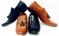 New Mens Leather Look Slip On Tassel Loafers Driving Shoes UK  SIZE 6-11