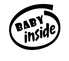 Baby Inside On Board Reflective Vinyl Decal Car Window Sign Sticker Badge