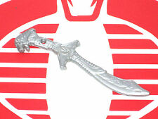 "Power Rangers Weapon White Ranger Dragon Sword Blade 5.5"" toyline accessory"