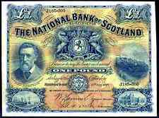 National Bank of Scotland. One Pound, J185-509, 15-5-1916, Good Fine