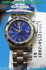 LTP-1215A-2A Blue Casio Women Watches Stainless Steel Band Ladies Date New